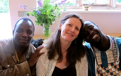 Sarah Patterson with tomeki dube and suri black umfolosi